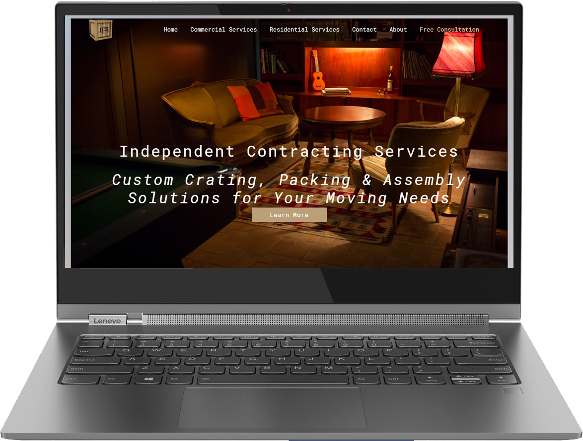 ICS Crating Website & App Development Solution